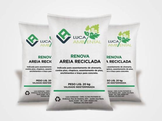Areia reciclada Renova