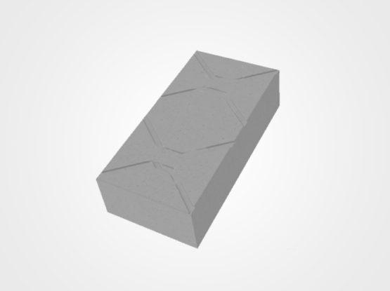 Paver retangular estriado 30 x 15 x 8